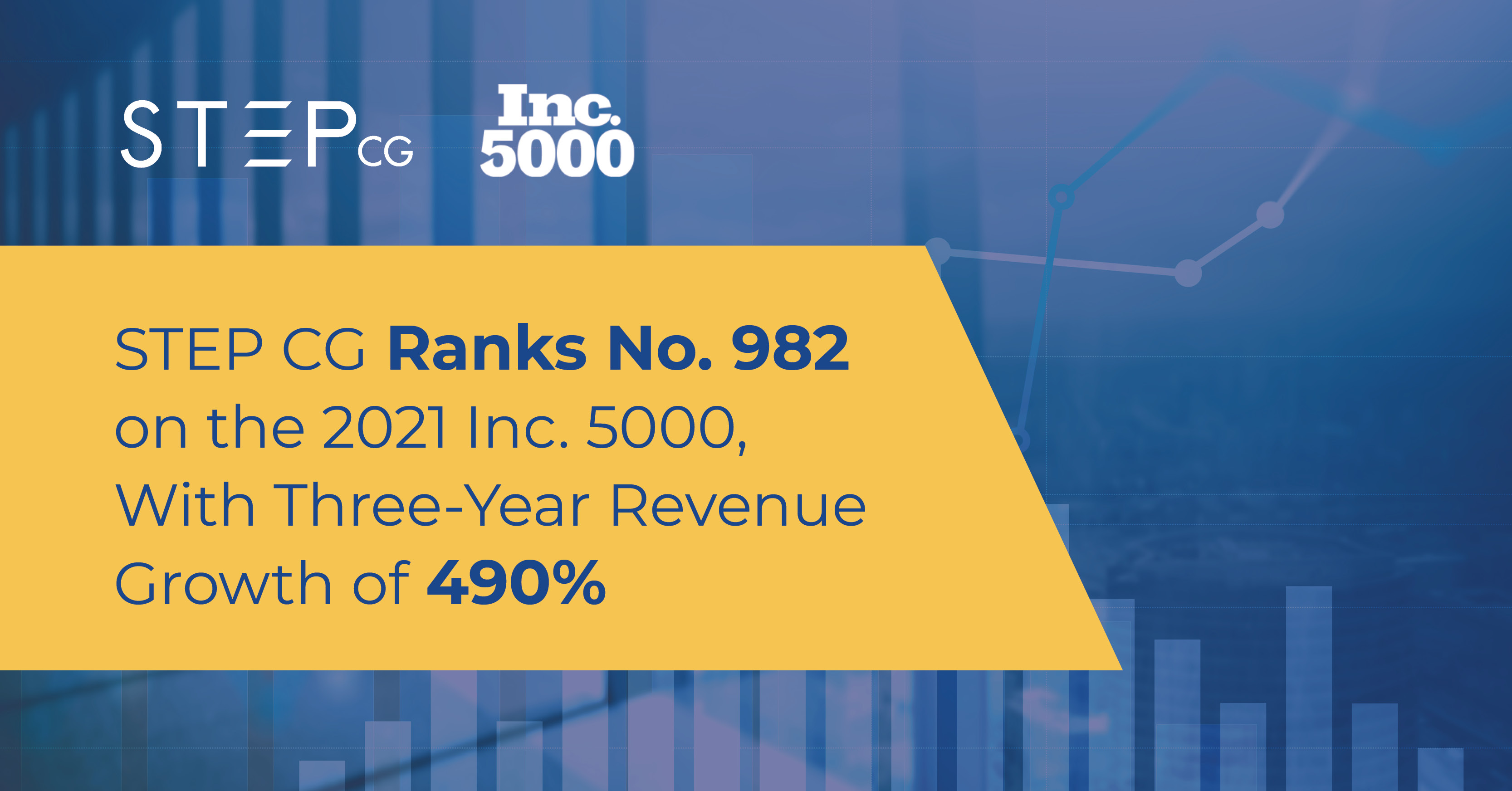 STEP CG Ranks No. 982 on the 2021 Inc. 5000,  With Three-Year Revenue Growth of 490 Percent